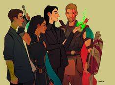 Loki and Thor and Valkyrie and Banner Marvel Avengers, Marvel Fan Art, Marvel Dc Comics, Loki Thor, Loki Laufeyson, Dc Memes, Marvel Memes, Avengers Quotes, Avengers Imagines