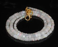 """32.20 Ct. 2.5 to 5 MM 16"""" Necklace Natural Ethiopian Welo Fire Opal Beads A057 #Unbranded"""