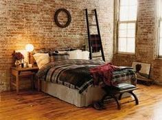 bedroom  brick wall / perfer limestone
