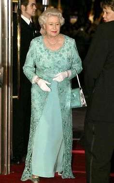 Stepping out for the Royal Variety Performance gala on Monday night, the Queen looked as lovely as ever in a stunning silver number fashioned by her trusty designer Angela Kelly
