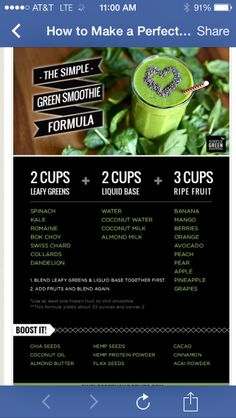 Green smoothie options