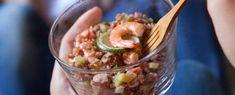 Riso rosso con insalata di avocado e gamberetti Sale&Pepe