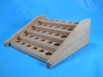 Medium Oak Essential Oil Counter Holder Display Rack for sale at: backwoodwoodworks.com