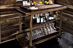 Crafted from New England-sourced black walnut, this simple yet stately cart features a natural oil rubbed finish, a removable top tray, and plenty of storage for liquor, glasses, and tools. $TBA