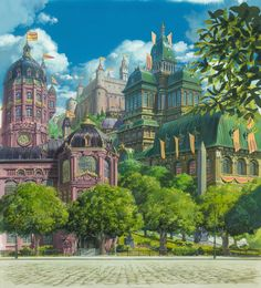 Living Lines Library: ハウルの動く城 / Howl's Moving Castle (2004) - Background Design