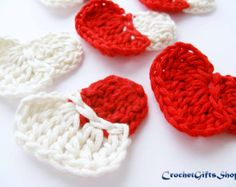 Crochet pattern heart Garland Motif Applique  Wedding easy