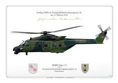 German Army Aviation . HEERESFLIEGER Erstflug NH90 im Transporthubschrauberregiment 30 am 11. Februar 2016