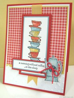Cards created by Lianne Carper using the Morning Cup stamp set by Stampin' Up!