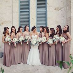Earth tones are your best bet to delight your girls. Earth tones are a superb feast to eyes out there, applied to dress choices for your accompanying girls.
