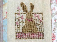 Daisy Rabbit Cross Stitch PDF Pattern