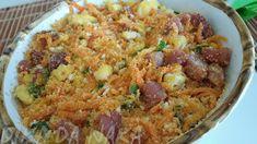Dika da Naka Blog de Culinária, Receitas, Gastronomia e Dicas de Alimentação: Farofa com cenoura e bacon