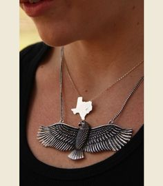 RETRO EAGLE NECKLACE - land of the brave!!!  Junk GYpSy co.