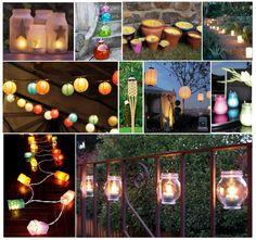 Lantern Collage for Outdoor Parties