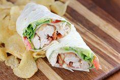 Rotisserie Chicken Club Wrap
