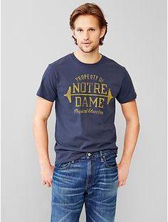 Gap Notre Dame PE T-Shirt | Frank Ozmun Graphic Design