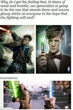 Harry potter, doctor who, and star wars. CAN THIS GET ANY MORE EPIC!!!???