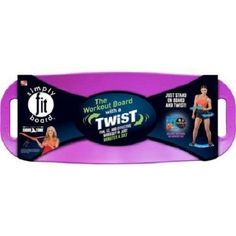 Simply Fit Board Magenta+ DVD - Workout Balance Board with A Twist