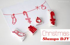 Luloveshandmade - Crafts, colors & everyday life happiness lu loves handmade: How to make (Christmas) rubber stamps yourself. Homemade Stamps, Homemade Cards, Stamped Christmas Cards, Christmas Crafts, Eraser Stamp, Gift Wraping, Stamp Carving, Stamp Printing, Tampons