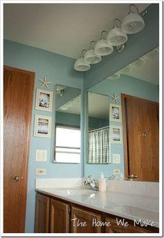 kid bathroom (Santorini Blue by Benjamin Moore)
