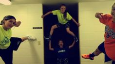 Do you have time on your hands before any kind of sports practice? Take a goofy photo!