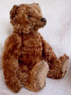 "EARLY 1900'S 19"" APRICOT, CINNAMON? STEIFF CENTER, CENTRE SEAM, TEDDY BEAR,NICE #Steiff"