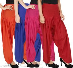 Ethnic Bottomwear - Patiala Pants Women's Solid Cotton Patiala Pant ( Pack of 4 ) Fabric: Cotton Waist Size:  M- 30 in, L- 32 in, XL- 34 in , XXL - 36 in Length: Up to 39 in Type: Stitched Description: It has 4 Pieces Of Patiala Pant Pattern: Solid Sizes Available: Free Size, S, M, L, XL, XXL, XXXL, 4XL *Proof of Safe Delivery! Click to know on Safety Standards of Delivery Partners- https://ltl.sh/y_nZrAV3  Catalog Rating: ★4.2 (5909)  Catalog Name: Eva Women's Solid Cotton Patiala Pants Combo Vol 17 CatalogID_260422 C74-SC1018 Code: 984-1971850-