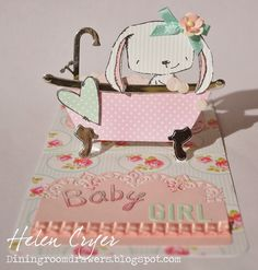 The Dining Room Drawers: Bathtub Pop Stand & Purple Onion Designs Stamps New Baby Card