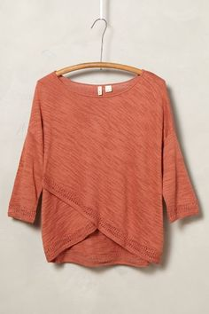 Crossed Pointelle Pullover - anthropologie.com