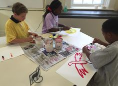 4th graders painted in tints and shades. www.stpaulsschool.org