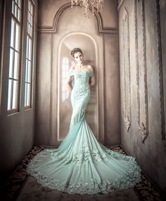 Mint Wedding Color Ideas For the Bride to Be Mint Wedding Dresses, Mint Bridesmaid Dresses, Wedding Mint Green, Wedding Colors, Wedding Ideas, Orange Weddings, Summer Weddings, Bridal Gowns, Wedding Gowns