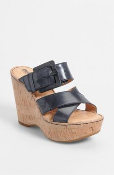 Børn 'Beau' Wedge Sandal (Nordstrom Exclusive) available at #Nordstrom