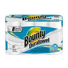 3ebb746485e70 Get your kitchen utensils clean and shine by using this Bounty DuraTowel  White Paper Towels. Comes in a variety of attractive prints.