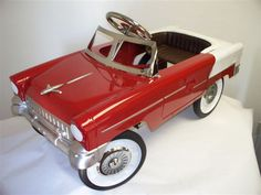 Pedal Cars Planes and Automobiles - Red and White 55 Classic , $279.00 (http://www.pedalcarsplanesandautomobiles.com/products/Red-and-White-55-Classic-.html)