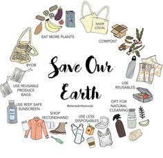 Save our Earth 💚 . Just a few ways you can help save our beautiful earth. It's not about doing everything, it's… Save Planet Earth, Save Our Earth, Save The Planet, In Natura, Help The Environment, Happy Earth, Diy Blog, Sustainable Living, Sustainable Ideas