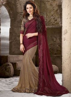 Always prefer to wear collar blouse designs for different saree draping in important social reception then this style of sari with jacket type blouse will simply separate you from the crow that's for sure. Saree Draping Styles, Saree Styles, Hyderabad, Indische Sarees, Indie Mode, Sari Design, Party Kleidung, Elegant Saree, Traditional Fashion