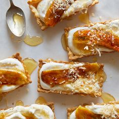A recipe for Banana, Coconut and Honey-Cream Tarts. /