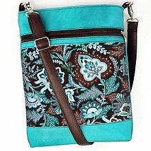 1e4e0ed563 Handmade tašky kabelky Tyrkysové