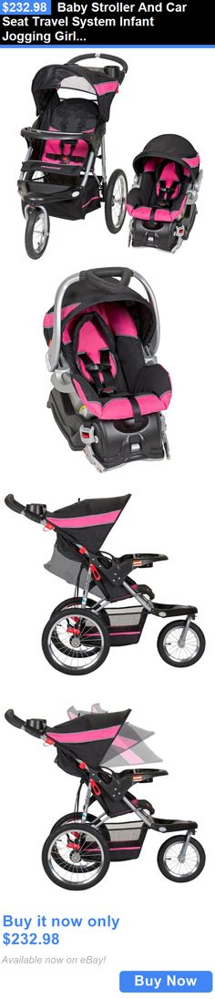 baby kid stuff: Baby Stroller And Car Seat Travel System Infant Jogging Girls Pink Pram Child BUY IT NOW ONLY: $232.98
