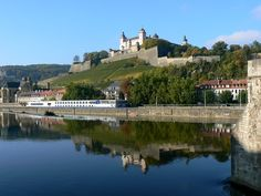 Würzburg about 650 B.C. on the place of the present day Marienberg Castle Fortress. Würzburg is the center of Germany's Franken Wine Growing Region. [Photo by http://www.fotos-reiseberichte.de/wuerzburg/ with more pics of the city]