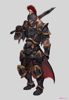 ArtStation - Character Concept_Black knight, B.Elin .