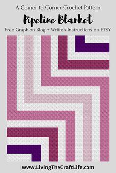 C2c Crochet Blanket, Crochet Hook Set, Tapestry Crochet, Afghan Crochet Patterns, Crochet Blankets, Crochet Afghans, Crochet Daisy, Crochet Home, Easy Crochet