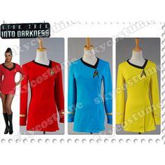 Star Trek The Female Duty Uniform Dress Costume from Star Trek. #StarTrek #Cosplay #Costume
