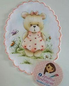 Baby Painting, Fabric Painting, Bear Cartoon, Teddy Bear, Animals, Disney, Cloth Diapers, Baby On The Way, Bears