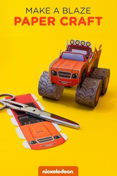 Transform an ordinary printable into a moving mighty monster machine!  Blaze and the Monster Machines has engines and ingenuity, plus tons of epic transformations. Wow your child with a free printable Blaze craft that transforms an average piece of paper into their favorite speedy hero!