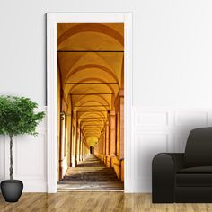 Adesivo porta Corteccia Albero Rivestimenti Adesivi per