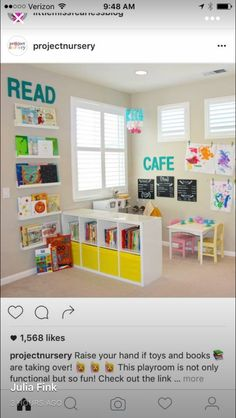 Cute Pic of playroom with Café and Reading Center