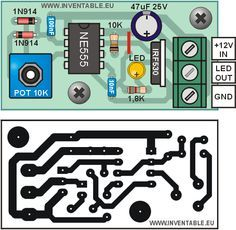 Distribución de los componentes y circuito impreso del regulador