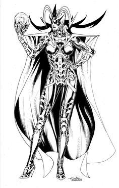 Hela, Asgardian Godess of Death by SpiderGuile.deviantart.com on @deviantART