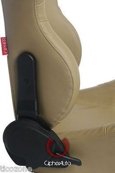 NEW CPA1001 ALL TAN LEATHERETTE CIPHER AUTO RACING SEATS - PAIR