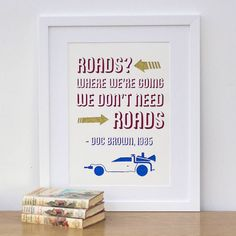 Handmade Back To The Future Quote Papercut
